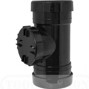 "4"" Short Access pipe (Double Socket) (Black)"